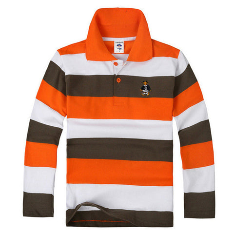 Big Discount kids boy girl polo shirts school uniform shirt  boys long sleeve t shirt   cotton children clothes cheap price - Growing Kids