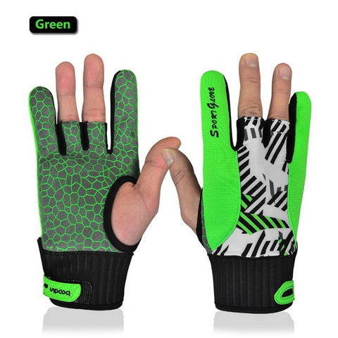 OBS-  Real Professional Anti-skid Bowling Bloves Comfortable Accessories Semi-finger Instruments Sports Gloves Mittens - Growing Kids