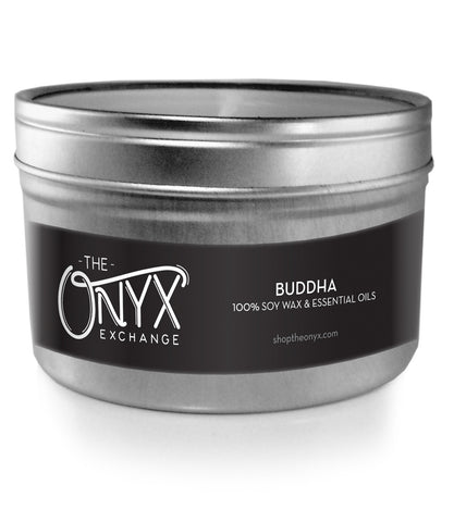 Buddha - Essential Oil Travel Tin Candle - Onyx Exchange