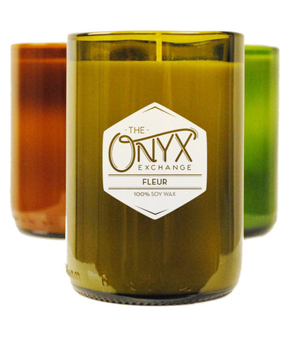 Fleur Wine Bottle Candle - Onyx Exchange - 1