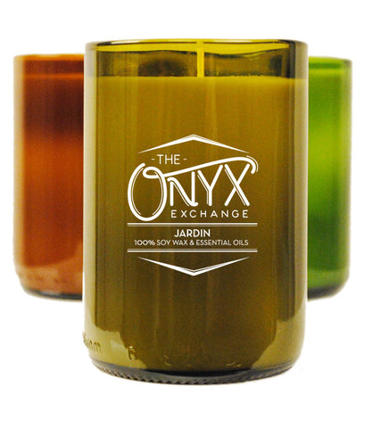 Jardin - Essential Oil Wine Bottle Candle - Onyx Exchange - 1