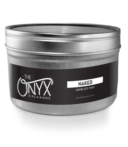 Naked - Unscented Soy Wax Travel Tin Candle - Onyx Exchange