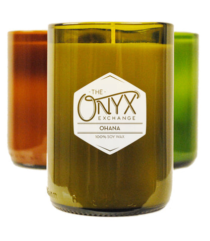 Ohana Wine Bottle Candle - Onyx Exchange - 1