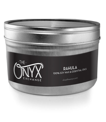 Rahula - Essential Oil Travel Tin Candle - Onyx Exchange