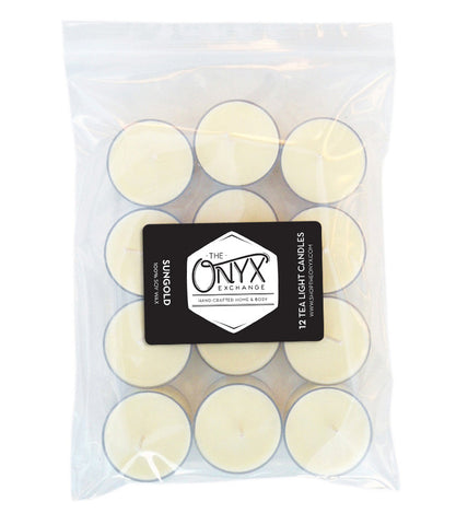Sungold - 12 Pack Tea Lights - Onyx Exchange