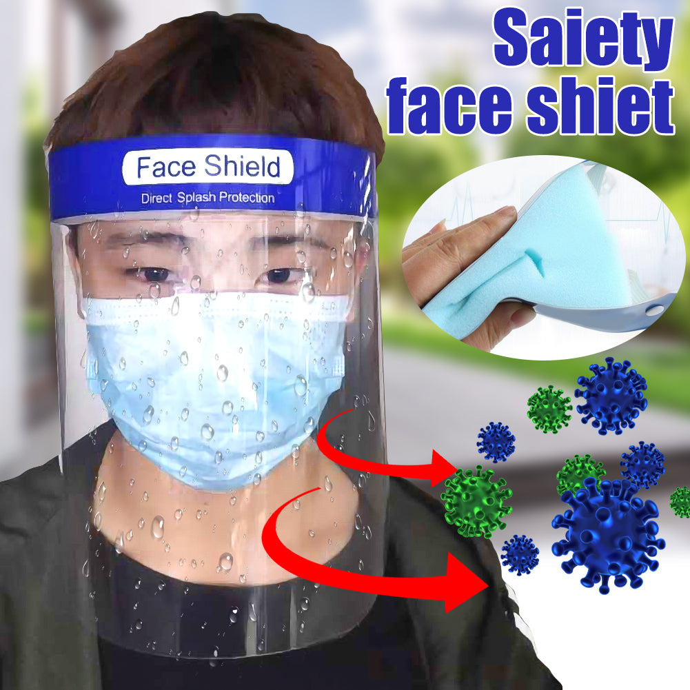 Anti-Saliva Splash Anti-Spitting Anti-Fog Anti-Oil Protective Face Shields with Elastic Band