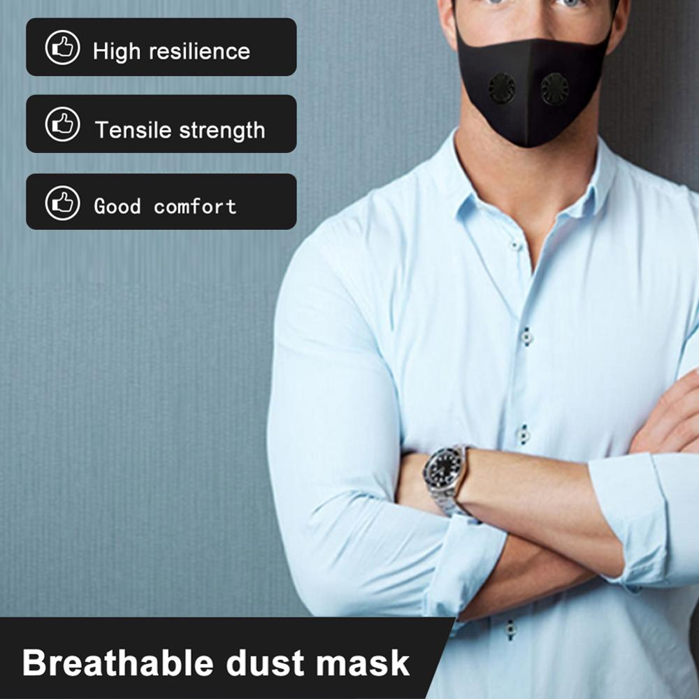 Antiviral Coronavirus Dust Mask with filter replacement gaske Anti-haze anti dust bacteria Running Cycling Mask