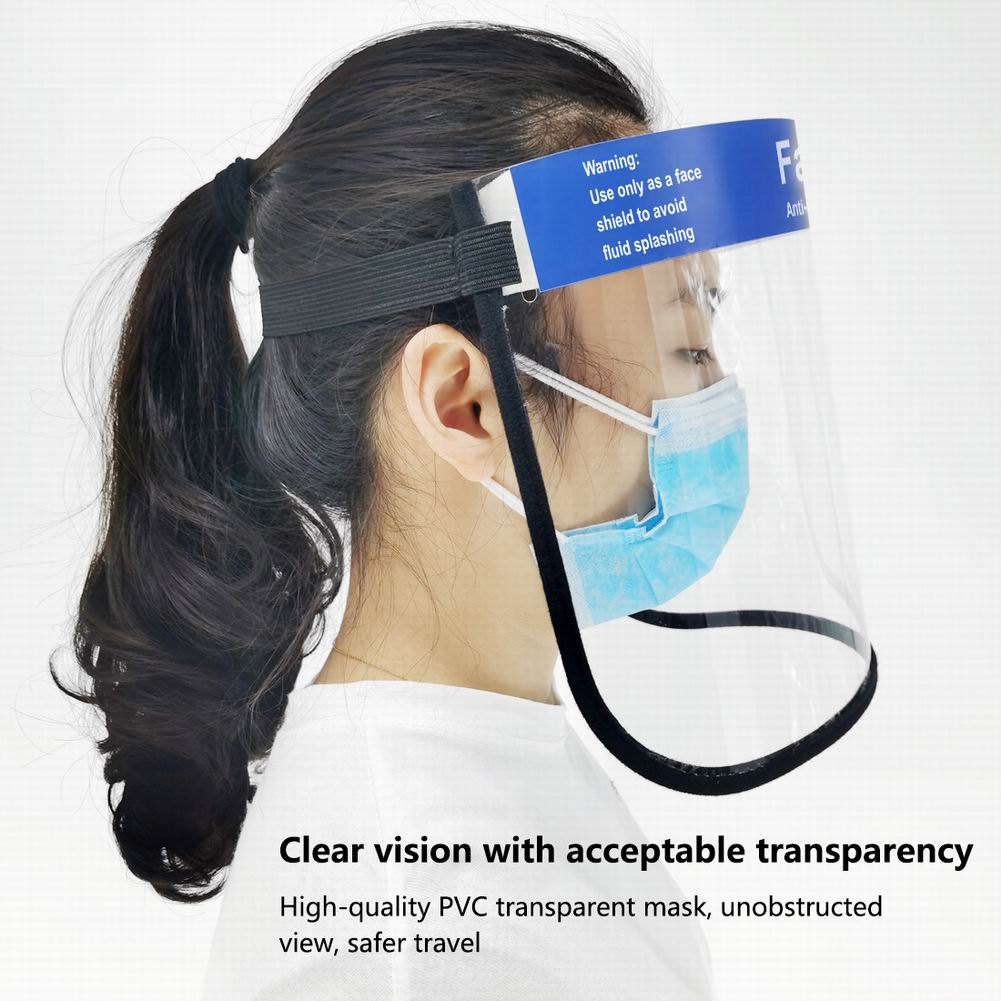 Transparent Protective Face Shield Dust-Proof Oil-Proof Anti-Splash Face Protection