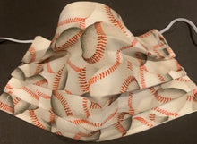 Load image into Gallery viewer, Cotton Face Mask - Baseball (Reversible)