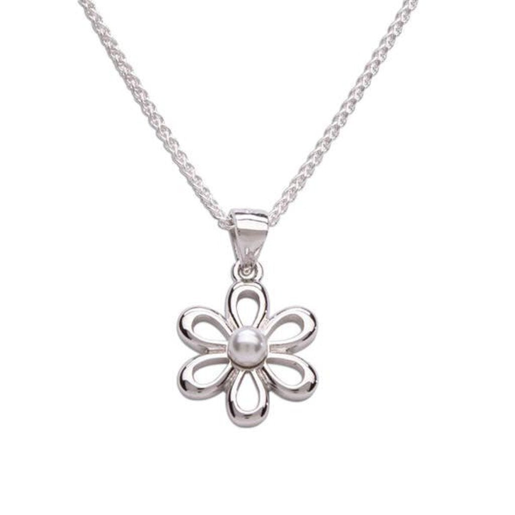 CHERISHED MOMENTS WHITE PEARL FLOWER NECKLACE