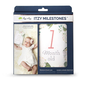 DOUBLE-SIDED BABY MILESTONE CARDS - Floral
