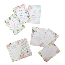 Load image into Gallery viewer, DOUBLE-SIDED BABY MILESTONE CARDS - Floral