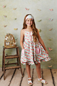 French Rose Pocket Dress w/ Shortie