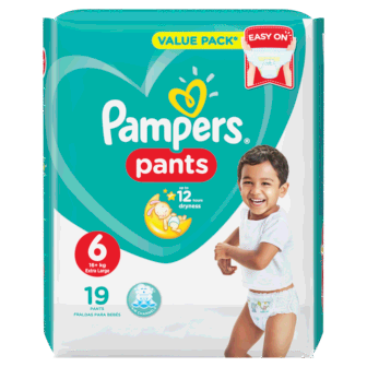 Pelena PAMPERS Pants Carry Pack Nr 6 Extra Large (pesha +15kg) 19 cope/pako