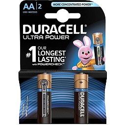 Bateri Alkaline AA Duracell Ultra Power 2cope
