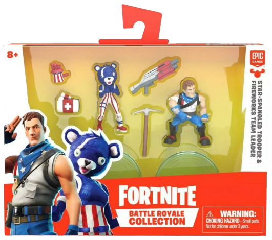 Loder Fortnite Duo Pack- 2 Battle Royale Collection Figures