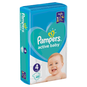 Pelena PAMPERS Value Pack Nr 4 Maxi (pesha 8-14kg) 49 cope/pako