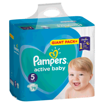 Pelena PAMPERS Giant Pack Plus Nr 5 Junior (pesha 11-18kg) 78 cope/pako