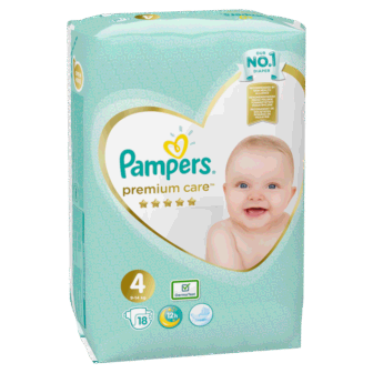 Pelena PAMPERS Premium Nr 4 Simple Pack (Pesha 9-14kg) 18 cope/pako