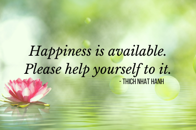 Thich Nhat Hanh quotes on happiness