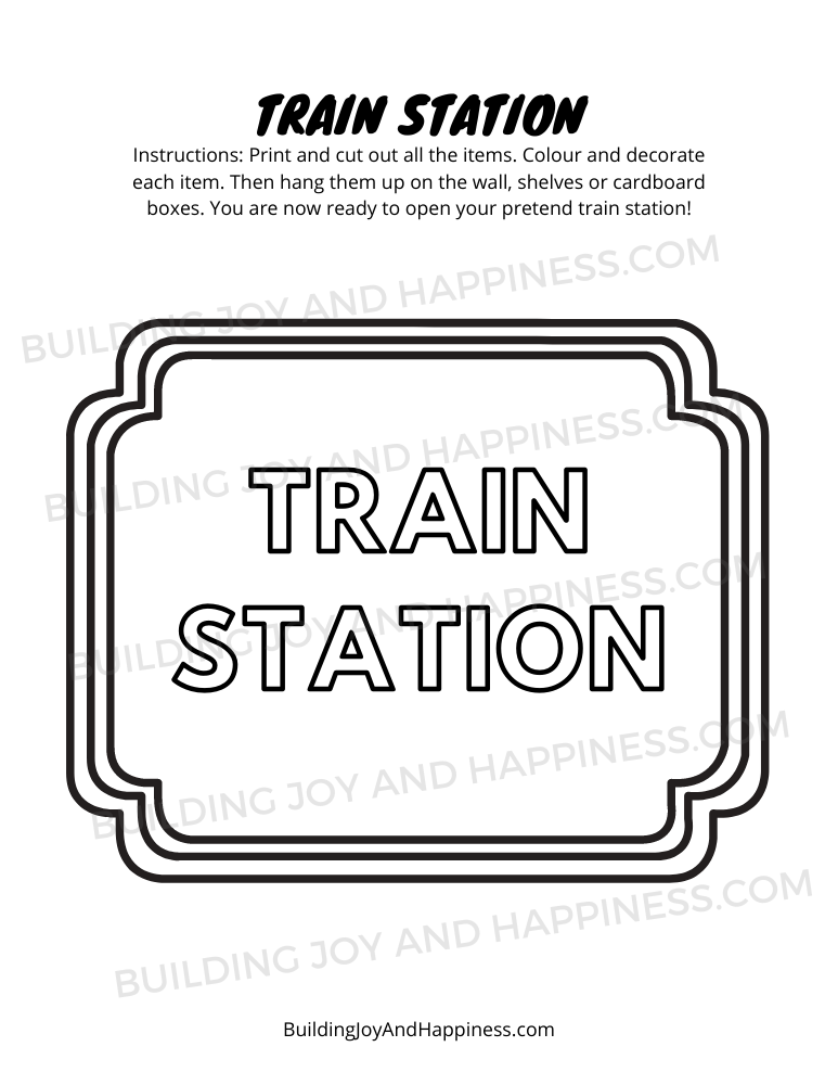 Train Station - Play Time Fun - Digital Download