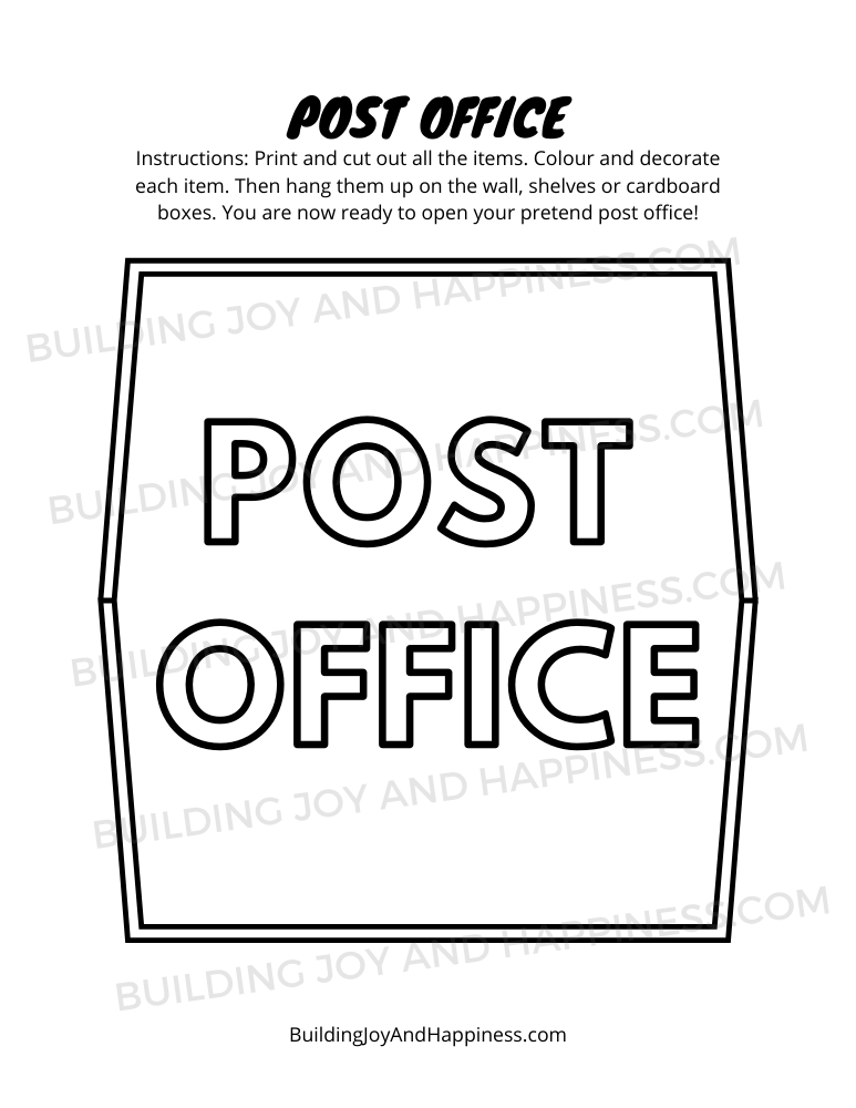 Post Office - Play Time Fun - Digital Download