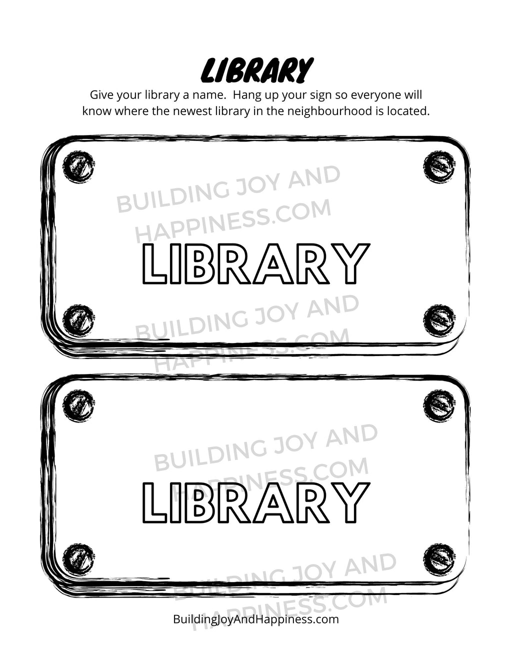 Library - Play Time Fun - Digital Download