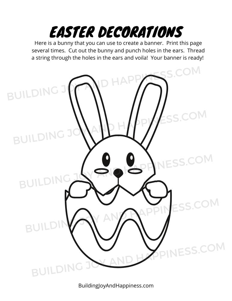 Easter Decorations - Play Time Fun - Digital Download