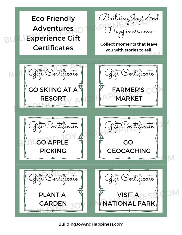 Eco Adventures - Experience Gift Certificates - Digital Download