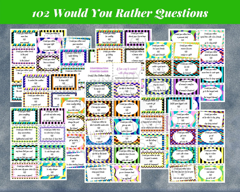 "102 ""Would You Rather"" Conversation Starters"