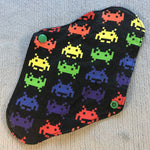 Rainbow Space Invaders Reusable Pads