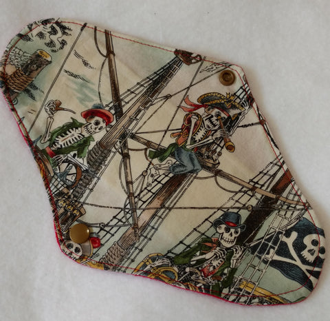 Skeleton Pirates Reusable Pads
