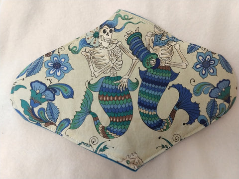 Skeleton Mermaids Reusable Pads