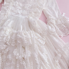 Load image into Gallery viewer, [Pre-order] 'Clair de Lune' Rococo Style Lace Gown One-piece