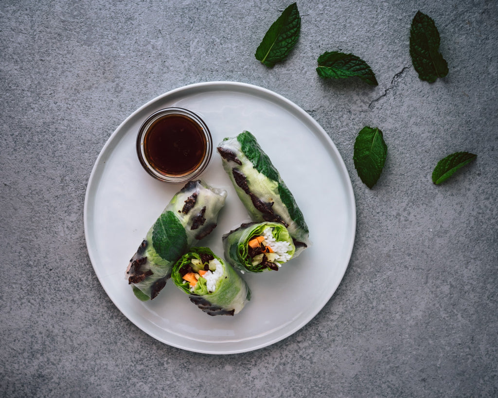 MerciMercado Recipe RICE PAPER ROLLS WITH CHAPULINES AND LIME-JALAPEÑO SOY SAUCE