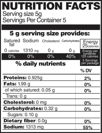 MerciMercado Chinicuiles Nutrition Facts