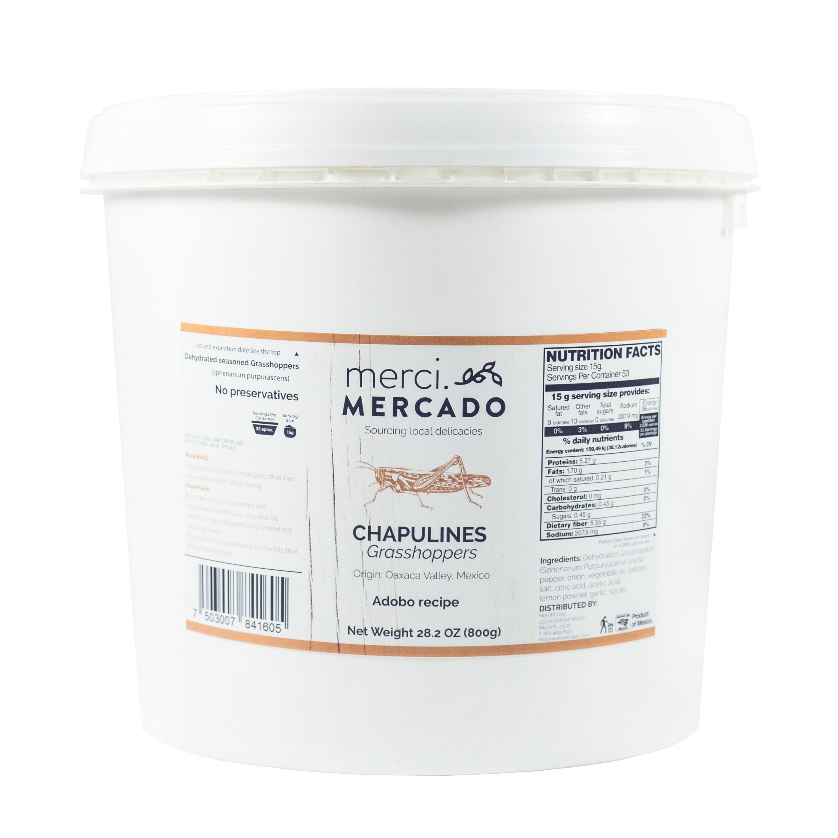 MerciMercado Chapulines Adobo Recipe 28.2 Oz