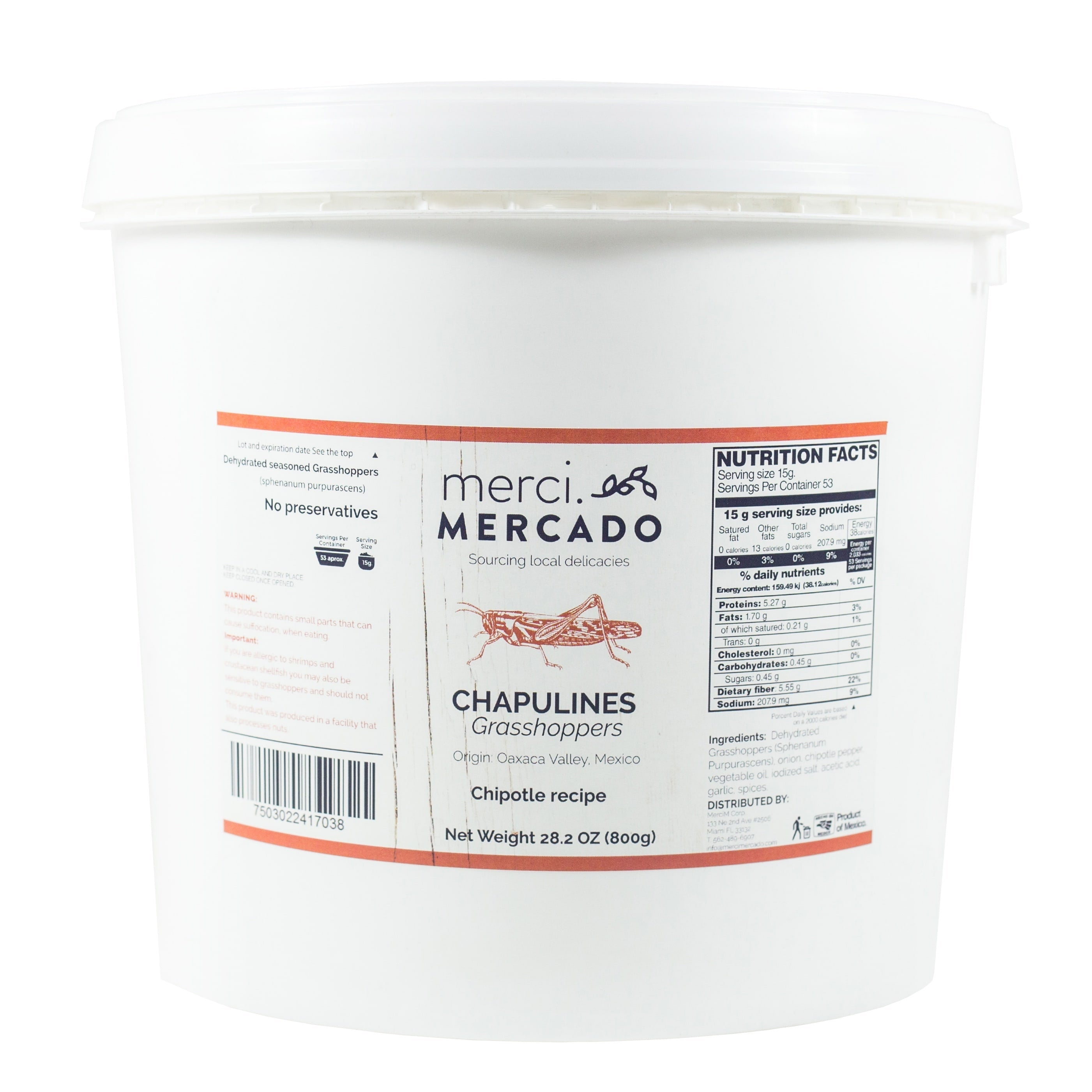 MerciMercado Chapulines Chipotle Recipe 28.2 Oz