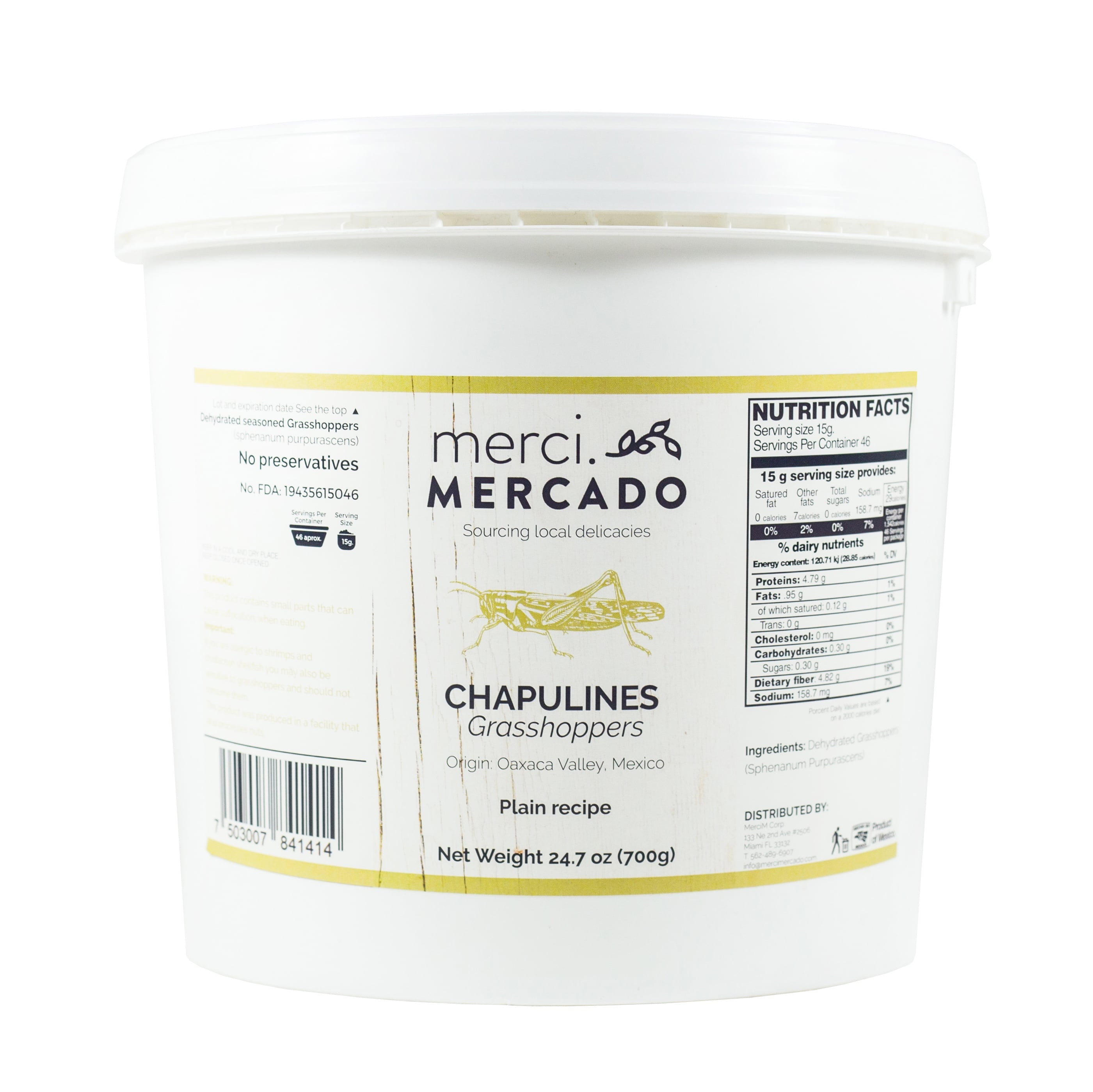 MerciMercado Chapulines Plain Recipe 24.7 Oz
