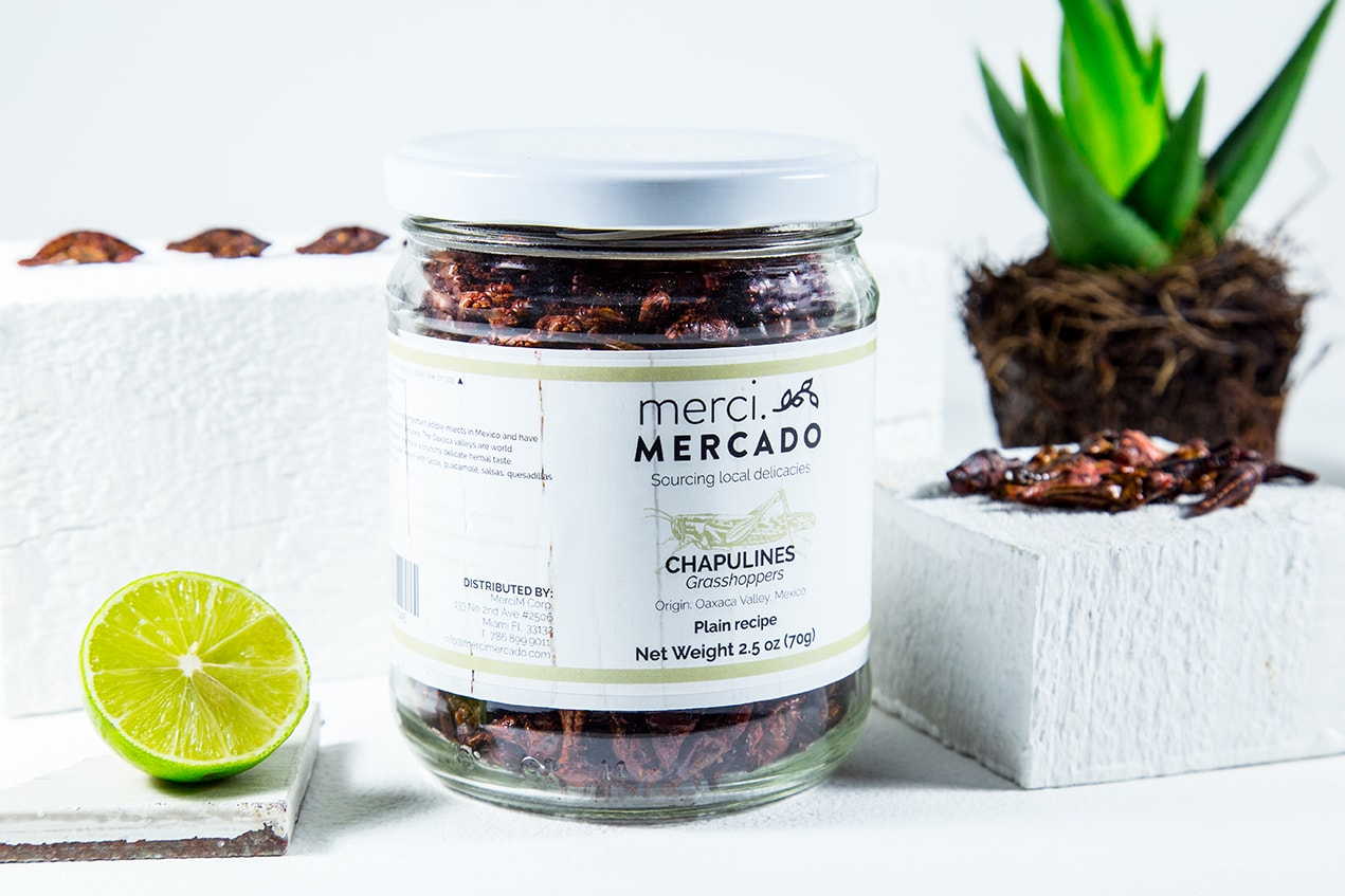 MerciMercado Chapulines Plain Recipe 2.5 Oz Front View