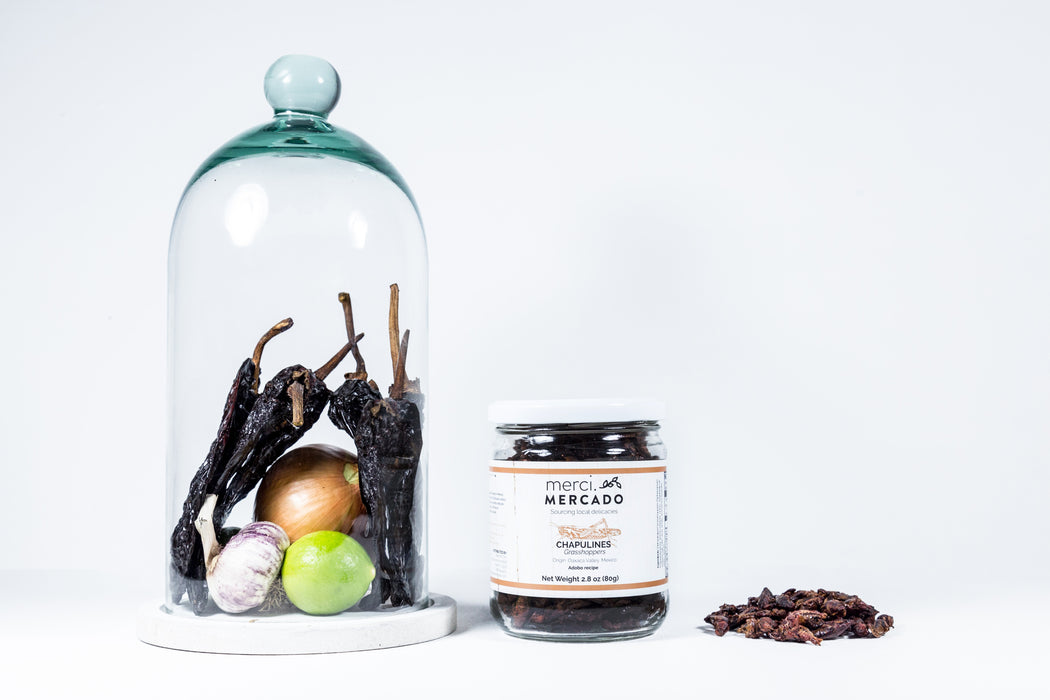 MerciMercado Chapulines Adobo Recipe with chiles