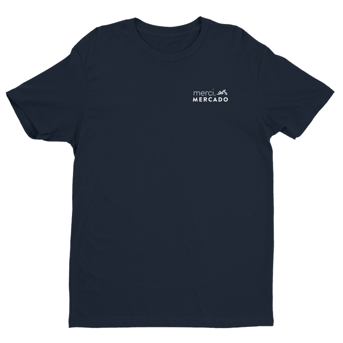 MerciMercado In Chapulines We Trust T-shirt Front View Midnight Navy