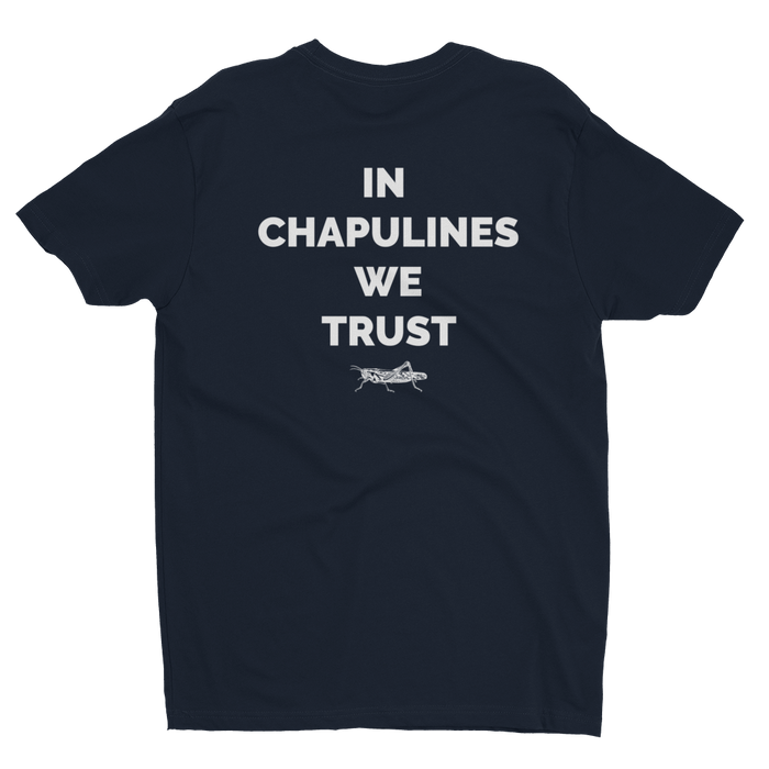 MerciMercado In Chapulines We Trust T-shirt Back View Midnight Navy