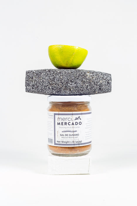 MerciMercado Mezcal Worm Salt with Stone
