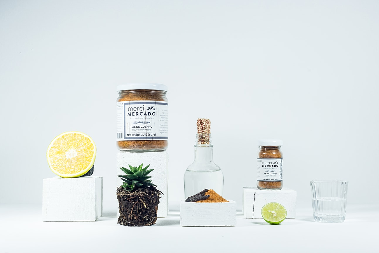 MerciMercado Mezcal Worm Salt Family