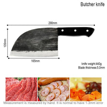 Load image into Gallery viewer, Serbian Butcher Knife