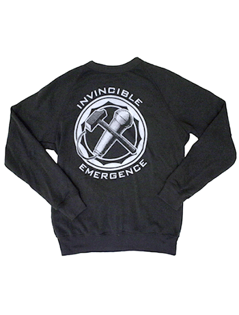 "Invincible / Emergence ""mic X hammer"" sweatshirt"