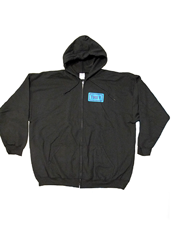 Black They/Them Hoodie