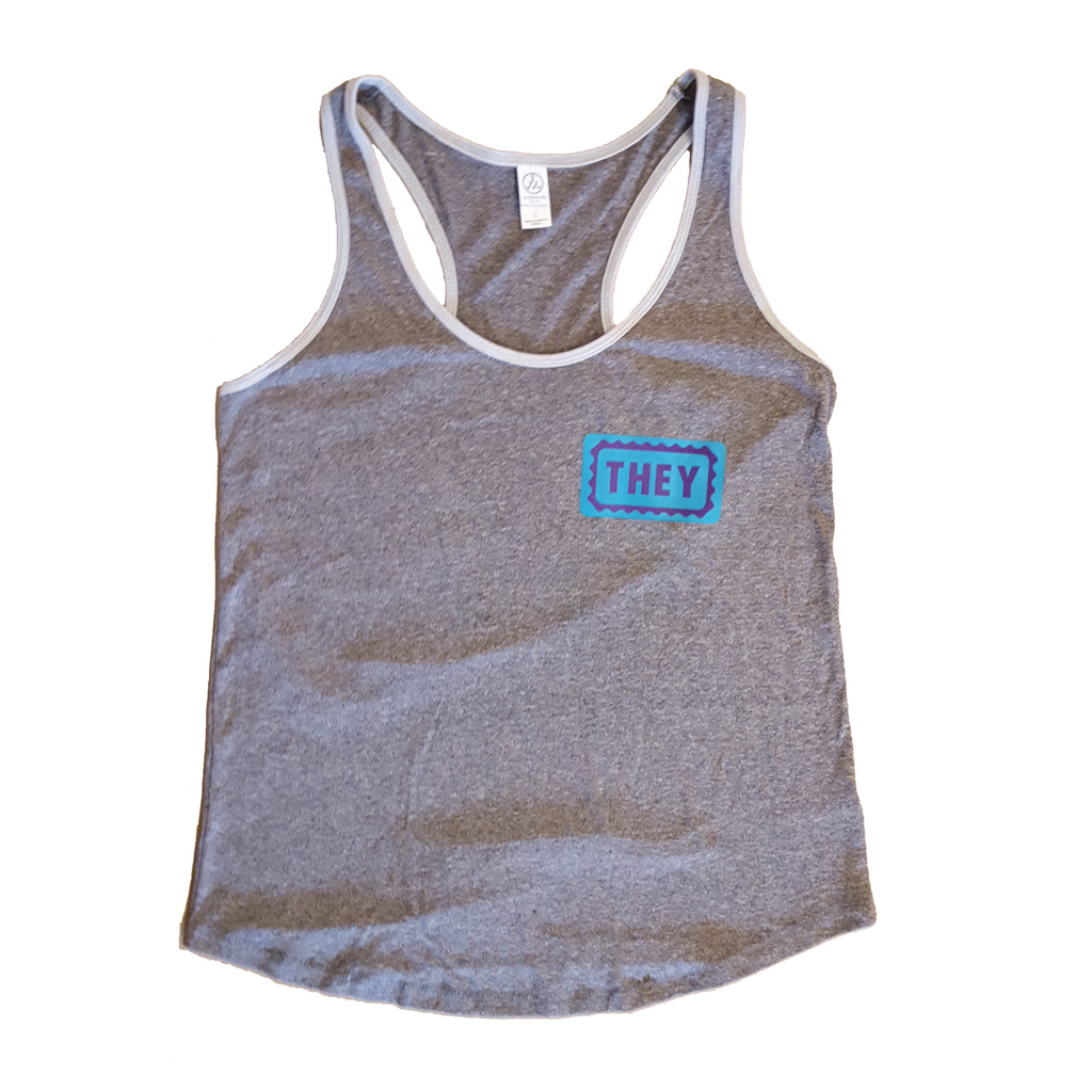 9a3b991a784536 They Them Fitted Tank Top