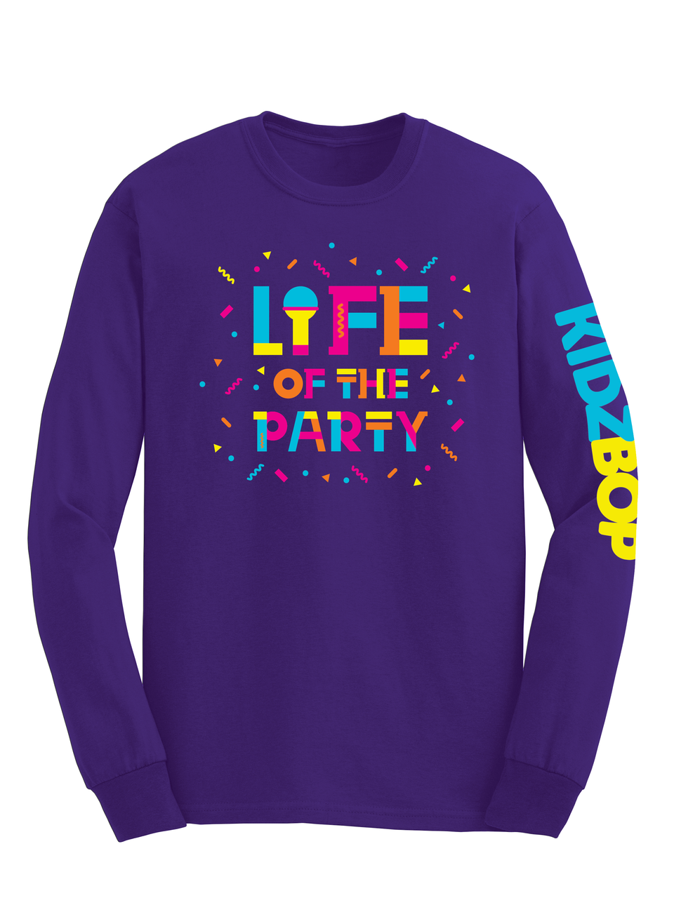 KIDZ BOP Life Of The Party Purple Long Sleeve Youth Tee